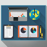 Concept of creative office workspace, workplace Royalty Free Stock Image