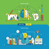 Concept of creative process, innovation and design. Concept of creative process, innovation and creative design. Color Line icons collection. Vector design for stock illustration
