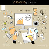The concept of the creative process . Process of creation. Workp Stock Photo