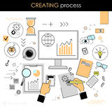 The concept of the creative process . Process of creation. Workp Royalty Free Stock Photography