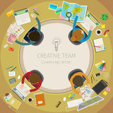 Concept of creative teamwork Royalty Free Stock Images