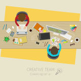 Concept of creative teamwork Stock Images
