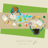 Concept of creative teamwork Royalty Free Stock Photo
