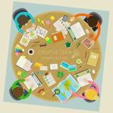 Concept of creative teamwork Stock Photos