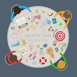 Concept of creative teamwork Royalty Free Stock Photography