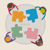 Concept of creative teamwork Royalty Free Stock Image