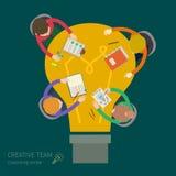 Concept of creative teamwork Royalty Free Stock Photos