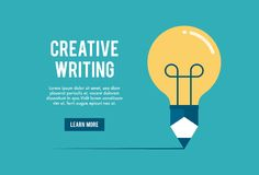 Concept of creative writing workshop. Vector illustration Royalty Free Stock Photography