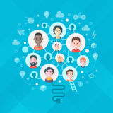 Concept of Creativity and Generating Ideas in Team royalty free illustration