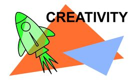 Concept of creativity. Illustration of a creativity concept stock illustration