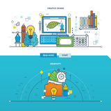 Concept of creativity, innovation and creative design. Stock Image