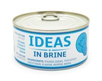 Concept of creativity. Tin can. Stock Image