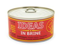 Concept of creativity. Tin can. Royalty Free Stock Photos