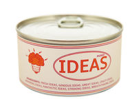 Concept of creativity. Tin can. Clipping path included Stock Image