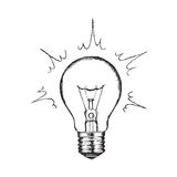 Concept of creativity with vector lighting bulb. Stock Image