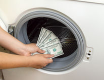 Concept crime of dollar Laundry Stock Photo