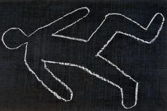 Shape of a drawn human body royalty free illustration