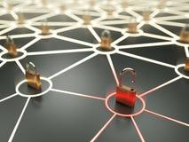 Concept critique de vulnérabilité de réseau Images libres de droits