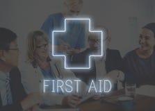 Concept croisé de graphique d'icône de traitement de santé d'hôpital Photographie stock libre de droits