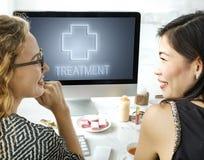 Concept croisé de graphique d'icône de traitement de santé d'hôpital Photos stock