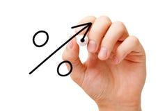 Concept croissant de flèche de signe de pourcentage image libre de droits