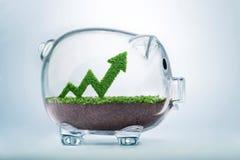 Concept croissant de graphique de flèche de l'épargne Image stock