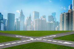 The concept of crossroads in uncertainty concept Royalty Free Stock Photo