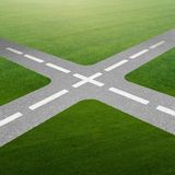 The concept of crossroads in uncertainty concept Stock Photo