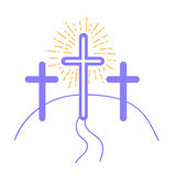 Concept of the crucifixion Stock Images