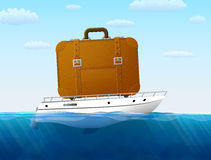 Concept of cruise traveling by sea Royalty Free Stock Photography