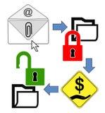 Concept of CryptoLocker Stock Photo