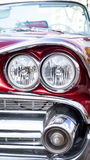 Concept of Cuba attractions. Headlight of old car in Havana, Cub Royalty Free Stock Images