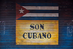 Concept of cuban flag and sound from Cuba Royalty Free Stock Image