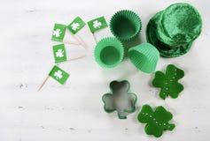 Concept à cuire et de cuisson de jour de St Patricks Image stock