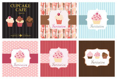 The concept of cupcakes cafe menu. Royalty Free Stock Images