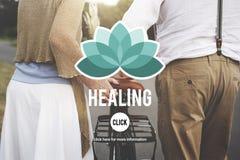 Concept curatif de bien-être de bien-être de thérapie Photo stock