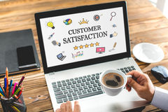 Concept For Customer Satisfaction. On Laptop Screen Royalty Free Stock Photo