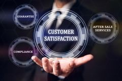 Concept For Customer Satisfaction royalty free stock photography
