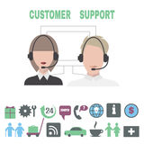 Concept for customer support service. Stock Photos