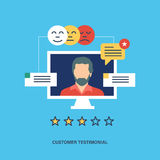 Concept of customer testimonials. Concept illustration of customer testimonials, business, vote and feedback, reviews and support, rating and liked. Technology Royalty Free Stock Photos
