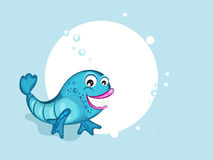 Concept of cute fish. Stock Images