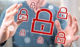 concept cyberveiligheid royalty-vrije stock fotografie