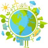 Concept cyclique d'écologie Image stock