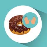 Concept délicieux de dessert de beignet Image libre de droits