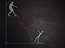 Concept d'écart salarial et d'égalité entre les sexes représenté avec la CMA réaliste Photos stock