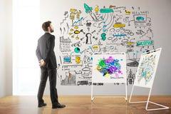 Concept d'échange d'idées Photo stock