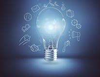 Concept d'échange d'idées et d'idée illustration libre de droits