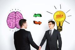 Concept d'échange d'idées, de travail d'équipe et de solution photos stock