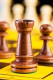 Concept d'échecs avec des parties Photos stock