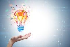 Concept d'éclaircissement et d'innovation Photographie stock